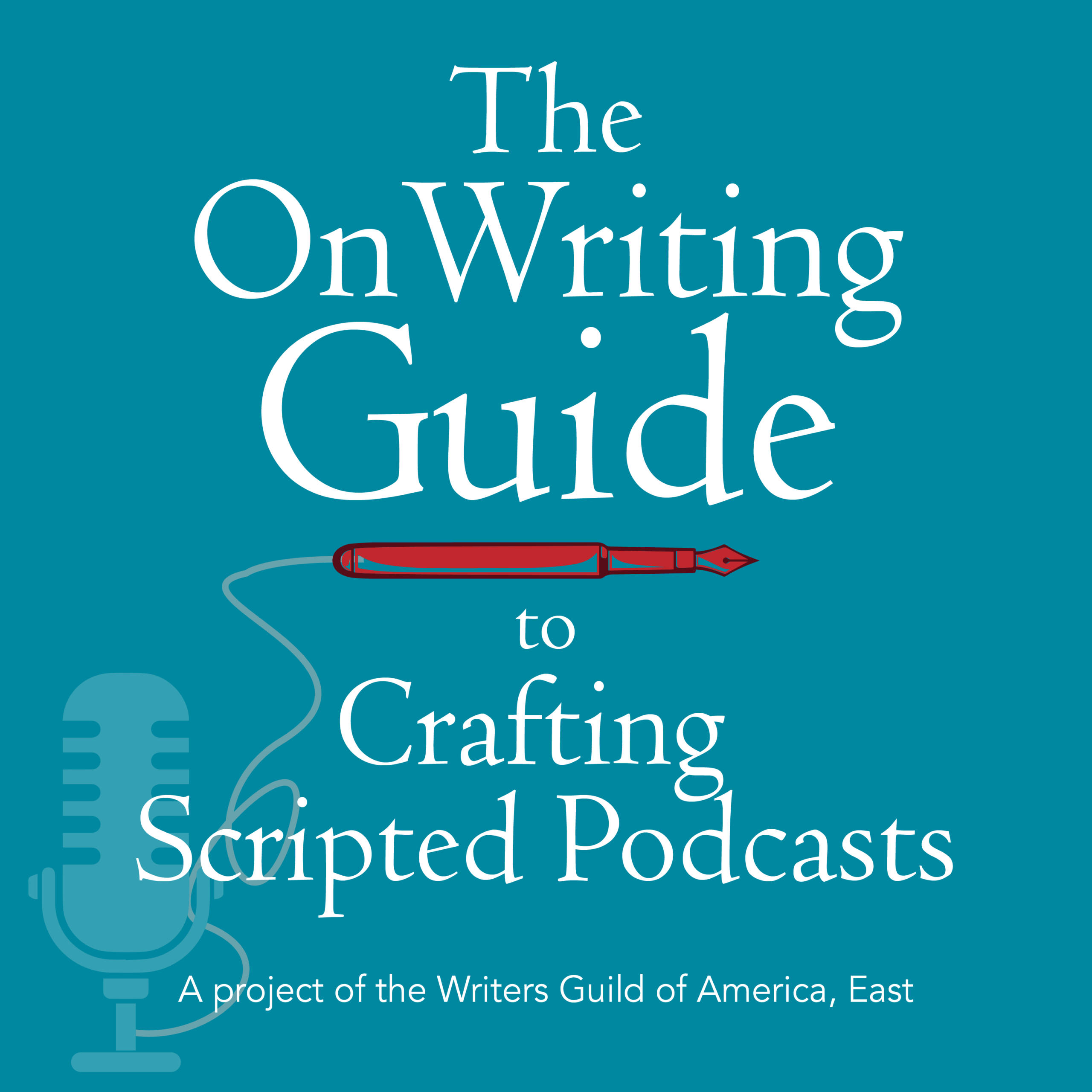 The OnWriting Guide to Crafting Scripted Podcasts logo.