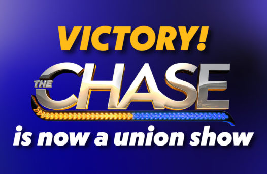 VICTORY! The Chase is now a union show.